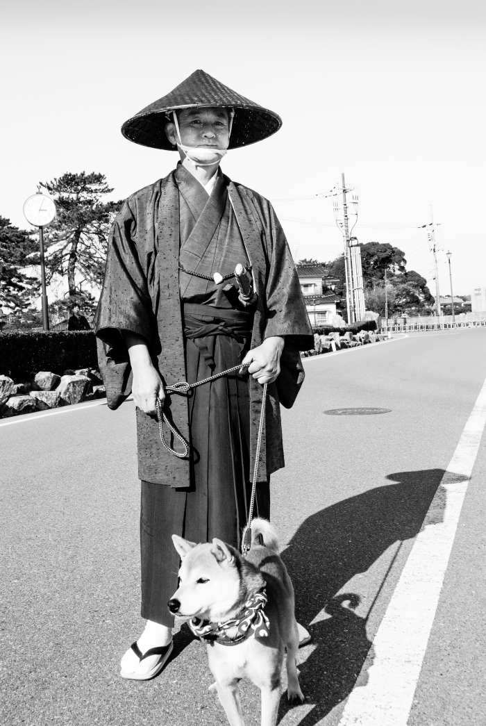 samurai-walking-the-dog