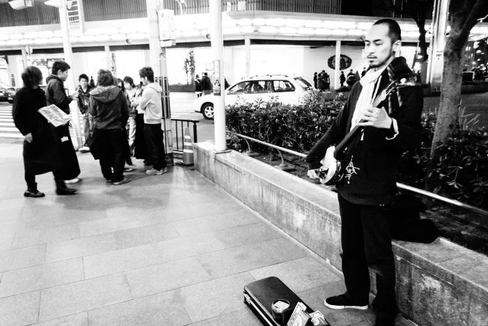 shamisen-busking